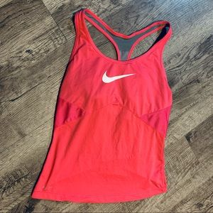 Nike Dri-Fit Pink Athletic Tank Top W/Support SM